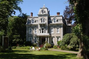 Historic Victorian mansion called the Queen Anne Inn in Annapolis Royal.
