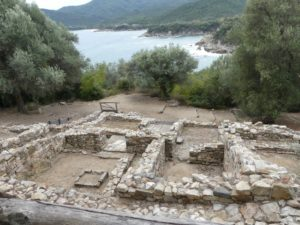 The ruins of a home in Ancient Stageira, the birthplace of Aristotle