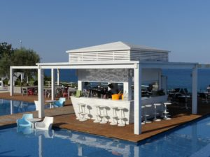 A floating bar at Cavo Olympo