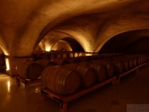 Papyianni wine cellar is dark and cave-like