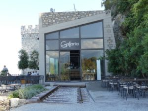 Gallaria was a train station that has been turned into a beach side bar in Pieria