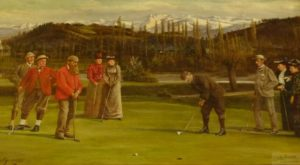 A historic picture of Pau's golf club in its early days