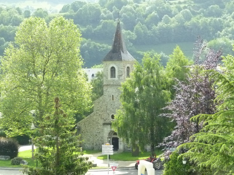 Saint Lary's church in the small alpine town
