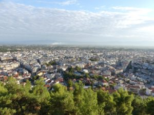 A view of Serres from the ancient Acropolis